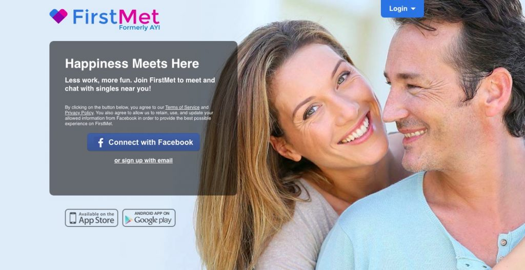 Firstmet.Com main page