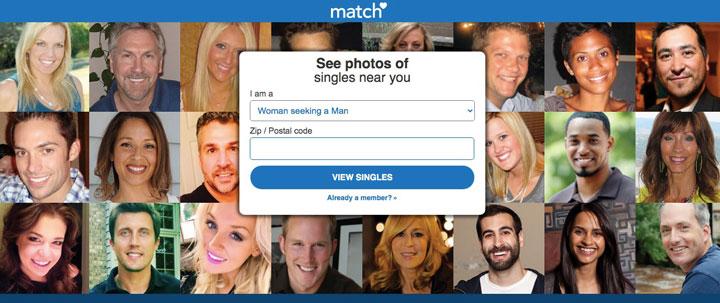 match.comのメインページ