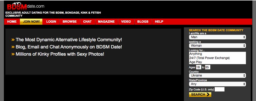 main page BDSMDate.com