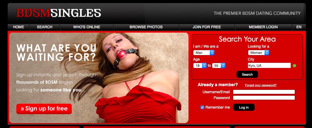 main page BDSMSingles.com