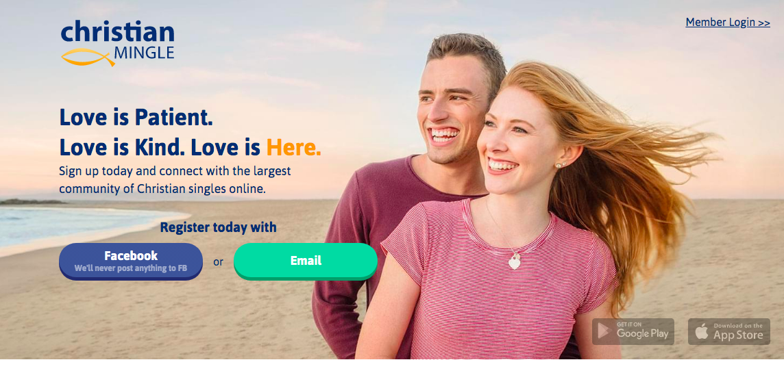 main page ChristianMingle