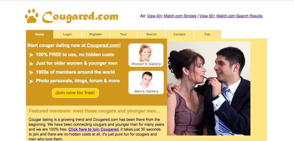 huvudsida Cougared.com