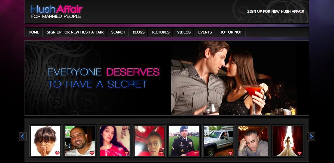huvudsida Hush Affair