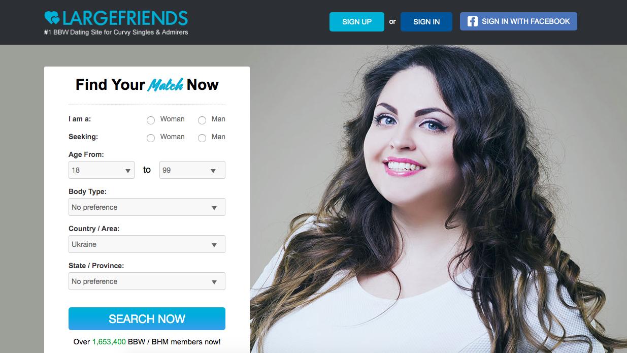 main page LargeFriends.com