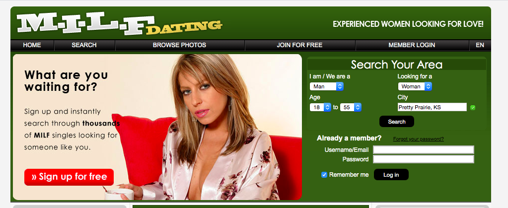 main page MilfDating.com