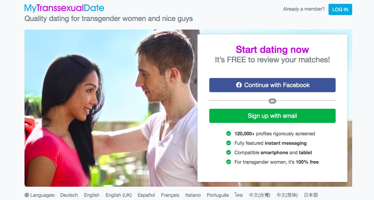huvudsida MyTranssexua Date