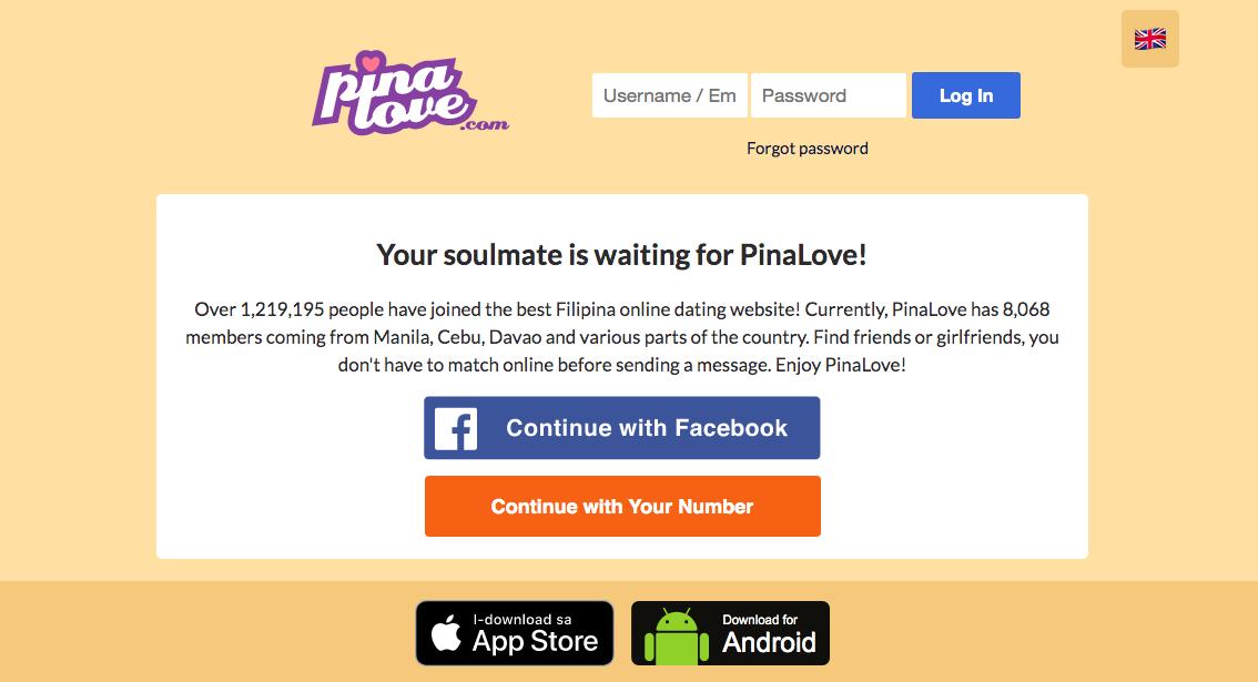 huvudsida PinaLove