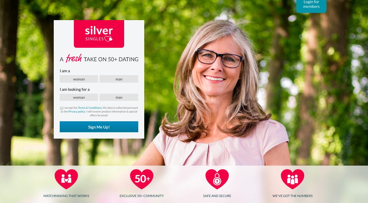 huvudsida SilverSingles