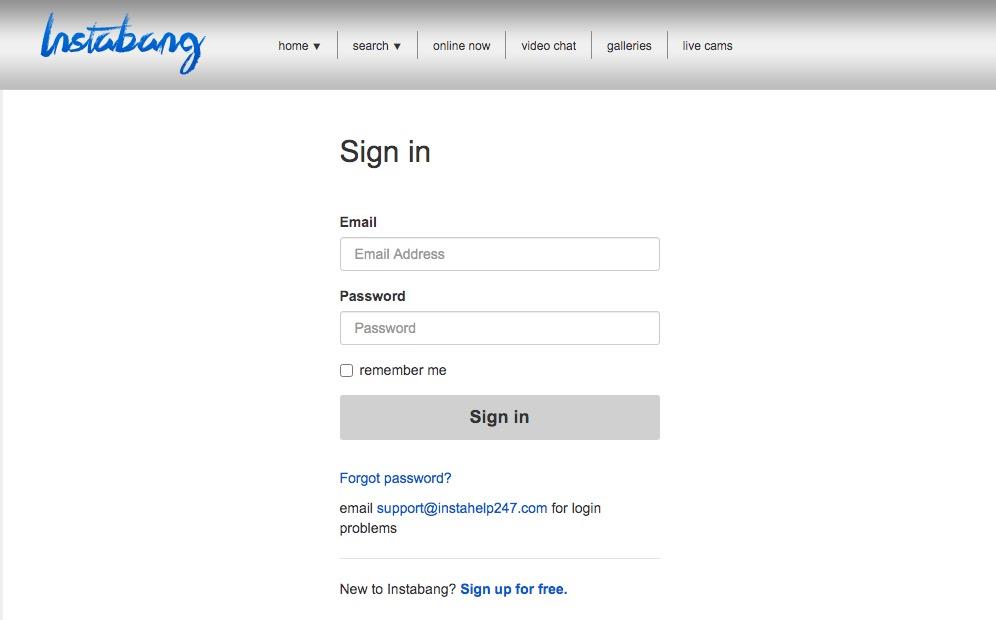 Instabang-registrering