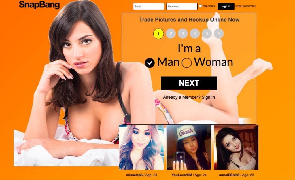 Snapbang main page