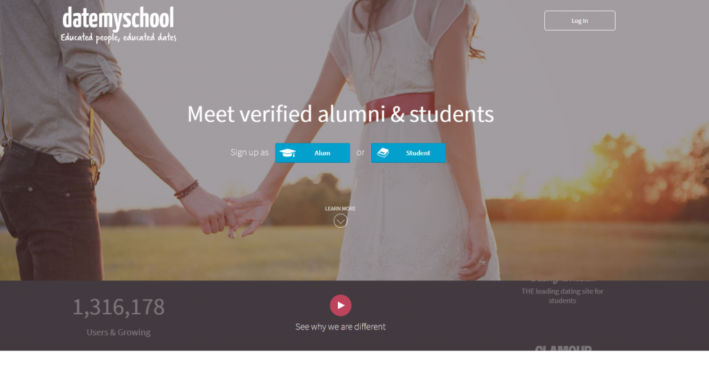 DateMySchool.Com main page