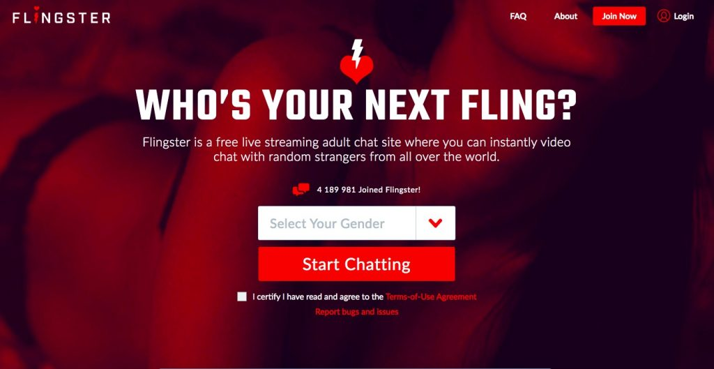 Flingster main page