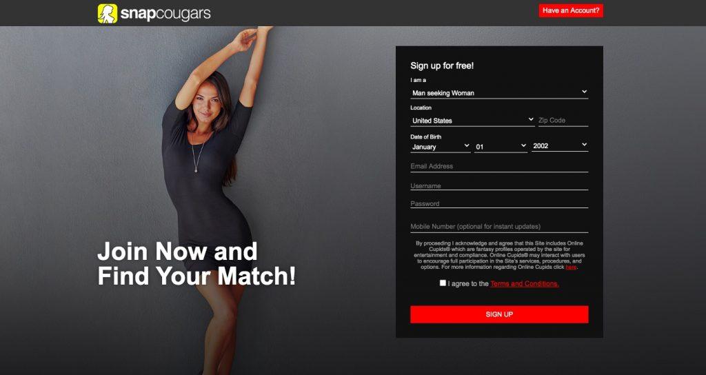 SnapCougar main page