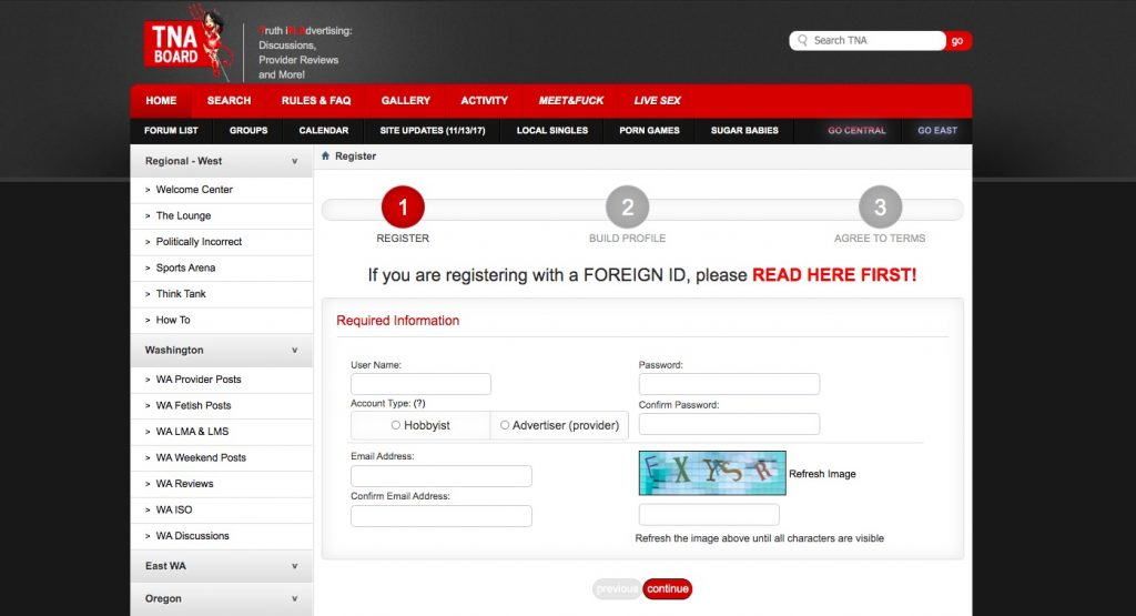 TNABoard registration