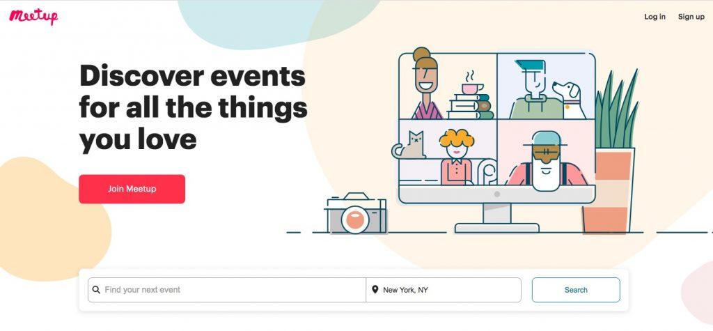 Meetup main page