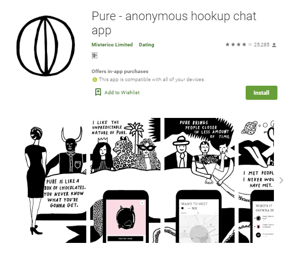 pure hookup chat app