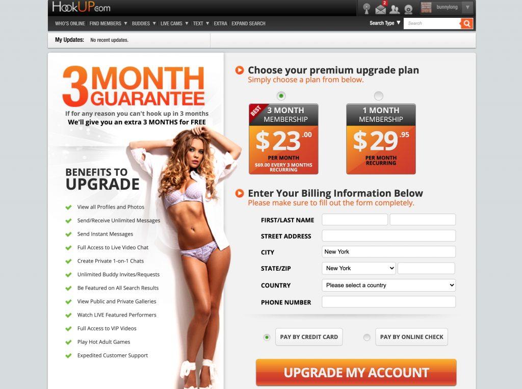 Hookup.Com price