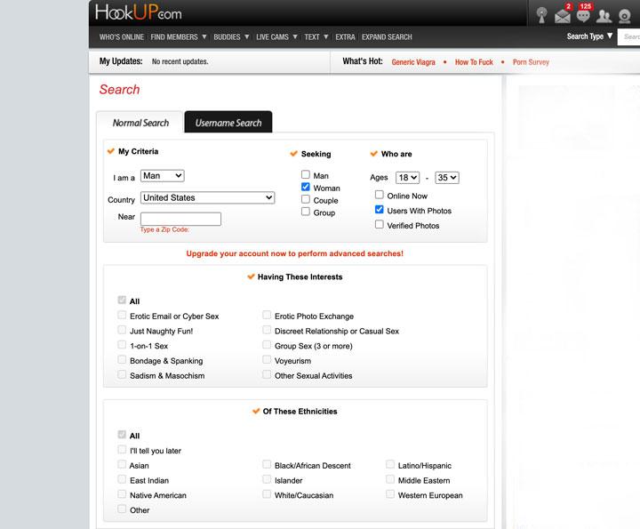 Hookup.Com-sökning