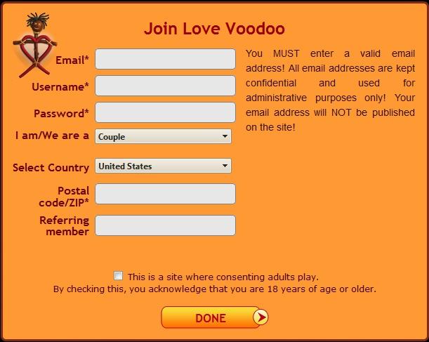 lovevoodoo créer un compte