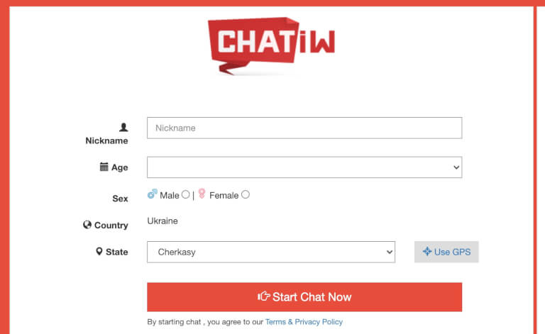 Chatiw.us main page